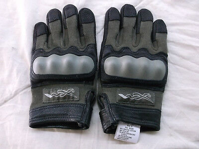Wiley-X Cag-1 Green Combat Assault Gloves With Kevlar Knuckles Size Medium-New