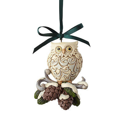 Jim Shore Legend Of Christmas Owl Pinecone Ornament 5th Series New 2017 6000676