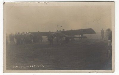 Aviation Early Aeroplane At Beccles Probably The Common Old Real Photo Postcard