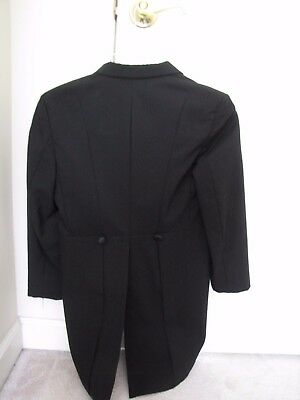 boy youth black tuxedo jacket with dovetail for wedding or halloween 10