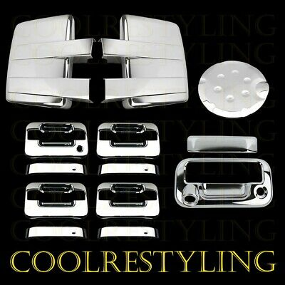 09-14 FORD F150 Chrome Mirror+4 Door Handle w/o Key Pad+Tailgate w/Cam+Gas Cover
