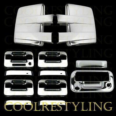 09-14 FORD F150 Chrome Cover Mirror+4 Door Handle W/KP W/O PK+Tailgate W/Key&CAM