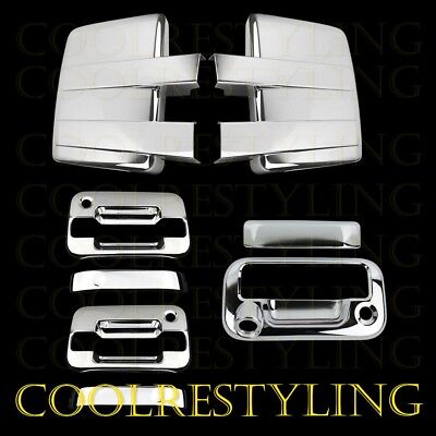 09-14 FORD F150 Chrome Cover Mirror +2 Door Handle W/O Key W/PK+Tailgate CAM