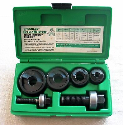 Greenlee 7235BB slug buster manual knockout kit for 1/2 to 1 1/4 inch