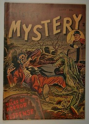 """Mister Mystery #1 (Sep 1951, Stanley Morse) """"Death a la Carte!"""" First Issue"""