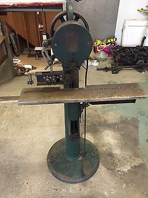 RH Brown Wire Stitching Machine New Haven CT EC Fuller NY Industrial Antique Old