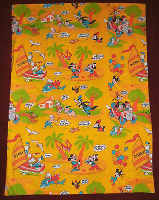 Disney Bettwäsche Stoff 70er 80er Mickey Minnie Mouse bedding fabric 70s 80s vtg