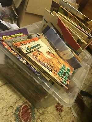 Joblot 98 Commando Comics. Varying ages.one Pound Bargain!