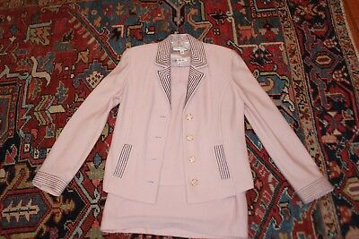 St. John Knit Skirt Suit, Size 6, Pink three piece suit - skirt, top and jacket