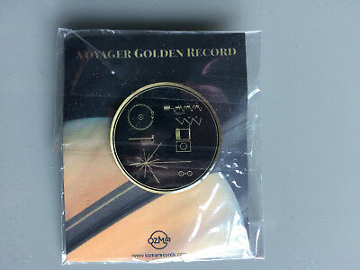 OZMA high-quality enamel PIN of the Voyager Golden Record diagram