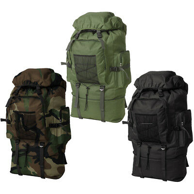 Army Military Backpack Rucksack Travel Hiking Camping Bag XXL 100 L 3 Colours