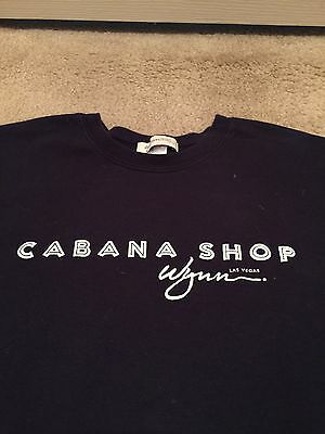 Wynn Las Vegas Navy Blue Cabana Shop Logo T Shirt Size L Ladies Or Mens
