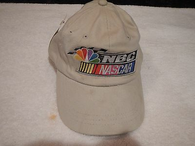 vintage NBC NASCAR RACING tan hat adult adjustable new with tags
