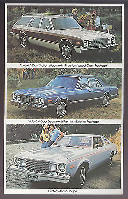 LOT 10 x 1979 PLYMOUTH VOLARE STATION WAGON/SEDAN/DUSTER 2-DOOR COUPE POSTCARD