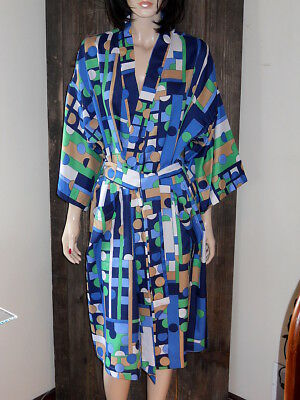 Vintage State O Maine Psychedelic MOD Dressing Gown Smoking Robe One Size
