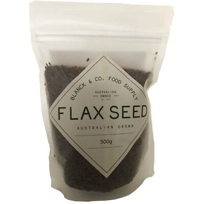 Blanck & Co. Flax Seeds - Grown & produced in Australia (500g)