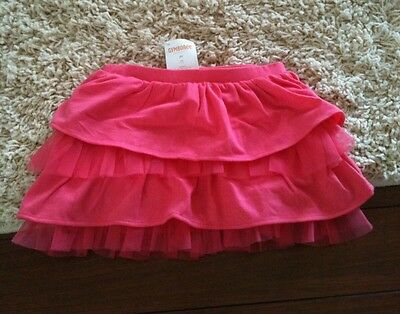 NWT Gymboree Growing Flowers 2T Pink Tiered Tulle Skirt 24m
