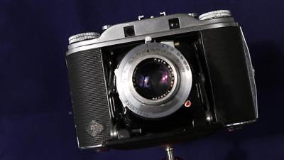 Agfa Isolette III f3.5 Solinar - Black LEATHER Bellows -  CLA'd of course