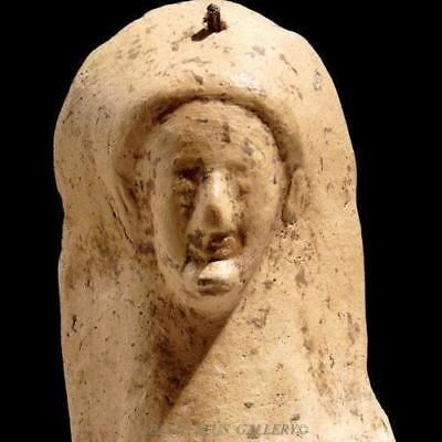 Ancient GREEK Pottery Demeter GODDESS Veiled Kore Female Protome Maskette 525 BC