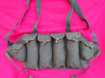 Original Military Chinese Chest Rig Ammo Pouch Magazine Type 81 Ak Bag From 1982