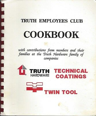 Owatonna Mn 1994 Truth Hardware Employees Club Cook Book Minnesota Recipes Rare