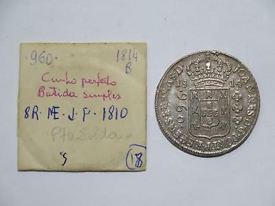 Brazil 1814 B 960 Reis Struck Over 8 Reales Ex:kurt Prober Old Coin Collection T