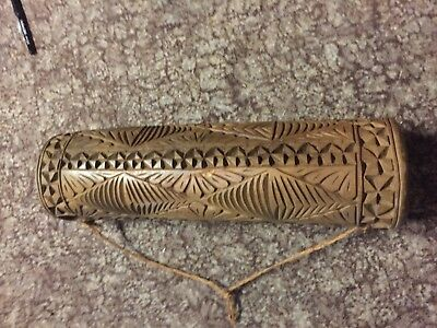 Hand Carved Hollow log from Papa New Guinea