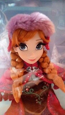 """Disney Frozen Snow Gear Anna Nordic Limited Edition Doll 17"""" Un-Numbered RARE"""