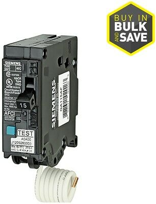 Circuit Breaker 15-Amp 1-Pole Combination Arc Fault Single Phase 120-Volt 1 Pack