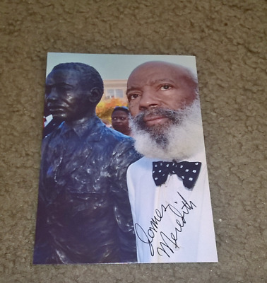 James Meredith Civil Rights Activist Hand Signed Color 4X6 Photo