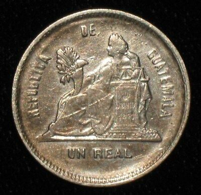 1893, 1 Real from Guatemala.  No Reserve!