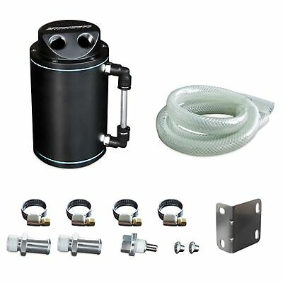 Mishimoto Universal Alloy Oil Catch Can Kit - Black - MMOCC-RB