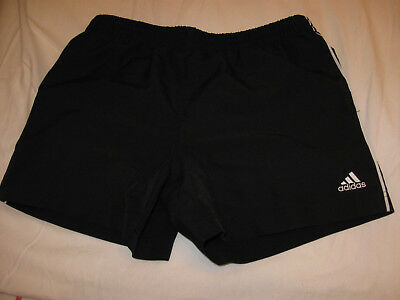 Adidas Girls Black Shorts With White Piping & Pockets Size 12