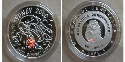Congo for Sydney olympic 2000 Nice silver proof coin