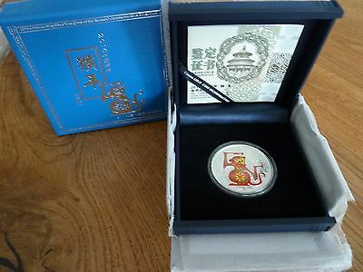 China 10 Yuan 2016 Lunar II Affe Farbe/color 1 Oz Silber PP - Top !