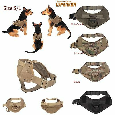 Tactical K9 Excursion Service Military Dog Vest Patrol Harness Handle Waterproof