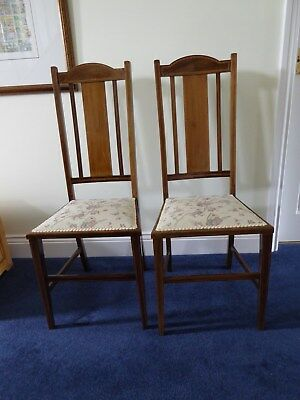 2 Edwardian Bedroom chairs