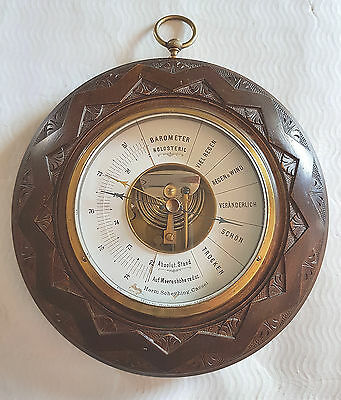 altes großes  Holosteric Barometer - Herm. Scheyhing. Cassel
