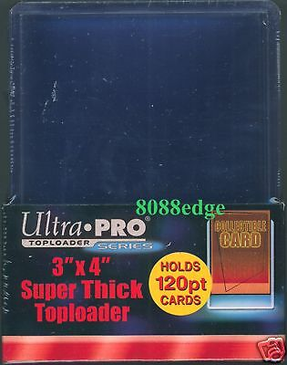 ULTRA PRO 3x4 TOP LOADERS BOX- PACK OF 10: 120pt - IDEAL FOR THICK PATCH CARDS