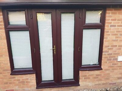 Patio doors picclick uk for Brown upvc patio doors