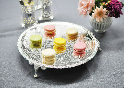 Queen Anne Silver Plated Cake Stand-Tray-Legs