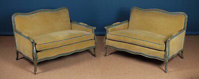 Pair Small French Sofas c.1980
