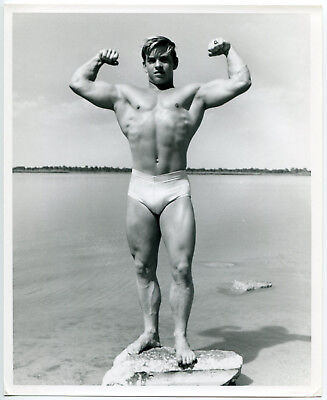 Rare Vintage 1960s DICK FALCON 8x10 Bodybuilder UNIDENTIFIED Stunning Model