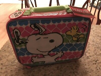 Snoopy Pink Thermos Lunchbox