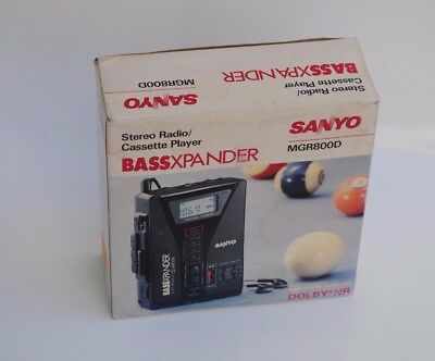 SANYO MGR800D AM/FM RADIO STEREO CASSETTE PLAYER - WALKMAN - DOLBY NR Very Rare