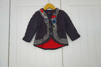 Catimini Strickjacke Wolle Gr 86 TOP