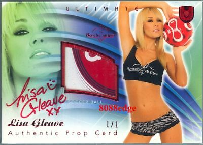 2010 Benchwarmer Ultimate Prop Red Auto: Lisa Gleave #1/1 Of One Autograph Aust