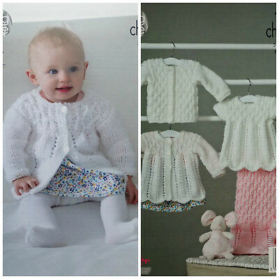 Baby KNITTING PATTERN Coat Cardigan Angel Top Blanket Chunky King Cole 4848