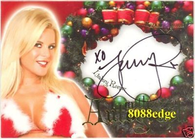 2006 Benchwarmer Holiday Auto: Lindsey Roeper #7 Of 16 Autograph