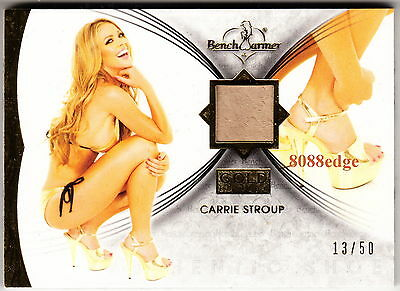 2013 Benchwarmer Gold High Heel: Carrie Stroup #13/50 Worn Shoe Swatch Miss Usa